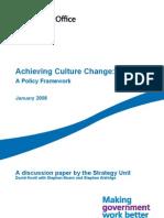 Achieving Culture Change