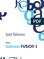 Suitcase Fusion 3 Quick Reference Card