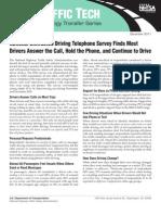 NHTSA - National Dist. Driving Telephone Survey - Tt407