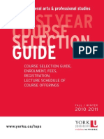 First Year Course Selection Guide