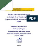 Cadernos Técnicos Limpeza-MT 2011