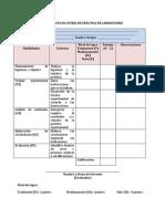 Lista de cotejo para práctica de laboratorio