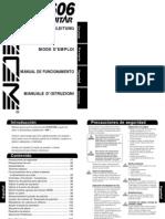ZOOM 606 Manual de Operaciones