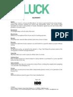 Philippine HBO LUCK - Glossary