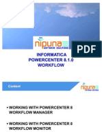 Working With Power Center 8 Workflow