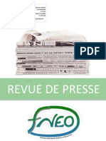 Revue de Presse FNEO - mobilisation du 14 Janvier