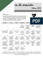 Calendario de Oracion, ICDC Espinosa