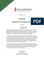 Cornwell Memo to Agents -- NFLPA