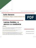 Julio Severo_ Lanna Holder, o Porco e a Sodomia