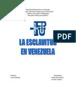Esclavitud en Venezuela