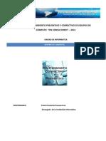 Plan de Mantenimiento Preventivo y Correctivo de Equipos De