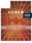DSG Lunch Menu
