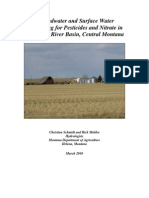 Groundwater and Surface Water Monitoring for Pesticides and Nitrate in the Judith River Basin, Central Montana