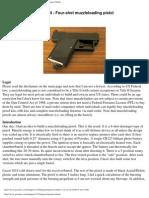 Four-Shot Muzzle Loading Pistol Instructions