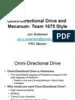 Omni-Directional Drive and Mecanum Presentation
