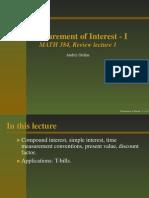Measurement of Interest- Slides