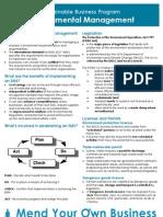 Info sheet- Environmental Management