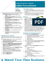 Info sheet - Green Procurement