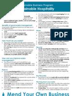 Info sheet- Sustainable Hospitality