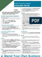 Info sheet -Sustainable Retail