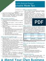 Infor sheet- Waste Tips
