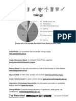 Info sheet- Energy
