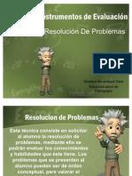 Técnicas e Instrumentos de Evaluación_RESOLUCION DE PROBLEMAS