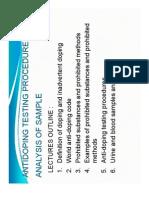 Anti Doping Testing Procedures