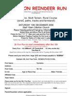 Reindeer Run Entry Form