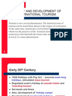 Evolution of Tourism Present a Ion