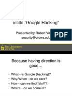 Security Day 05 Google Hacking
