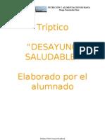 Tríptico  DESAYUNO SALUDABLE