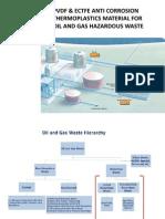 PVDF ECTFE Anti Corrosion Material for Oil and Gas Hazardous Waste