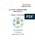 US Air Force Course AFQTP 4Y0X2-1 - Dental Laboratory-General Skills