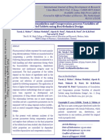 Optimization of Granulation and Compression Process Variables of Atenolol Tablets Using Box Behnken Design