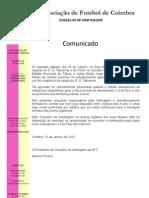 COMUNICADO CONSELHO DE ARBITRAGEM