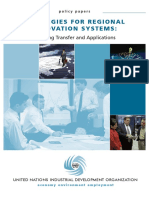 Strategies for Regional Innovation Systems