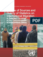 Review of Sources and Quality of Statistics on International Migration