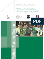 "1st West Africa Women Policy Forum - ""Assessing the Gains, Advancing the Agenda"""