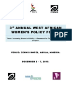 3rd Annual West Africa Women Policy Forum, Abuja, Nigeria
