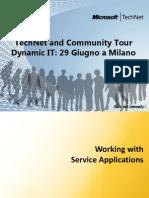 Service Applications Foundamentals