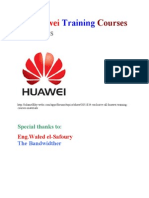 All Huawei Training Courses Materials