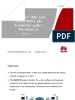111OBN209221 iManager N2000 BMS High-Availability System Maintenance ISSUE1.0