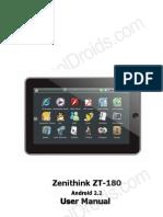 ZT-180 English Manual Cooldroids Version