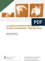 La justice transitionnelle dans le  monde francophone
