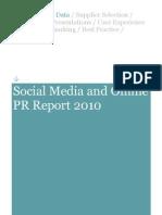 Social Media and Online PR Report