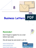 Unit 8 Business Letters 1