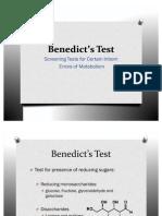 Benedict's Test