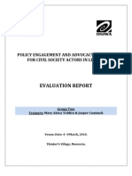 Policy Advocacy and Engagement Training Post Evaluation Report - Monrovia, Liberia - (March 2010)