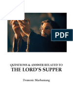 Questions and Answers Regarding the Lord's Supper